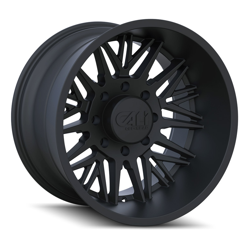 Cali Off-Road 9109-24281MB Rawkon 9109 Matte Black 24x12 8x165.1 -51mm 130.8mm Wheel