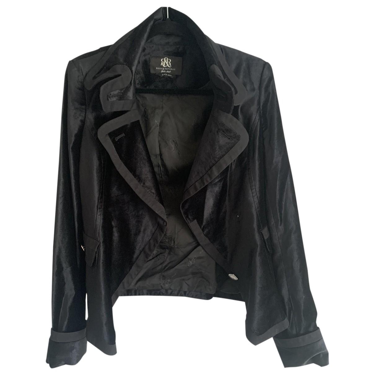 Rock & Republic De Victoria Beckham \N Black Cotton jacket for Women 8 UK