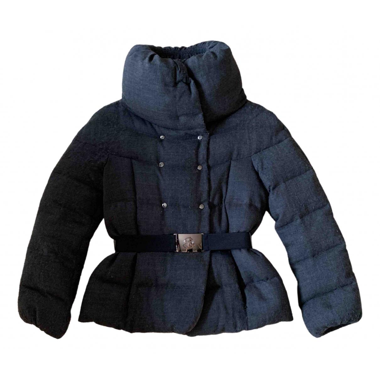 Moncler - Manteau Classic pour femme en laine - anthracite