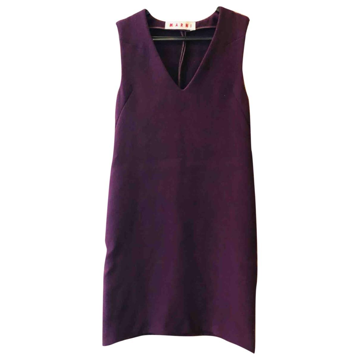 Marni - Robe   pour femme en laine - violet