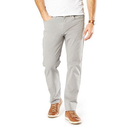 Dockers Men's Straight Fit Jean Cut Smart 360 Flex Pant D2, 29 32, Gray