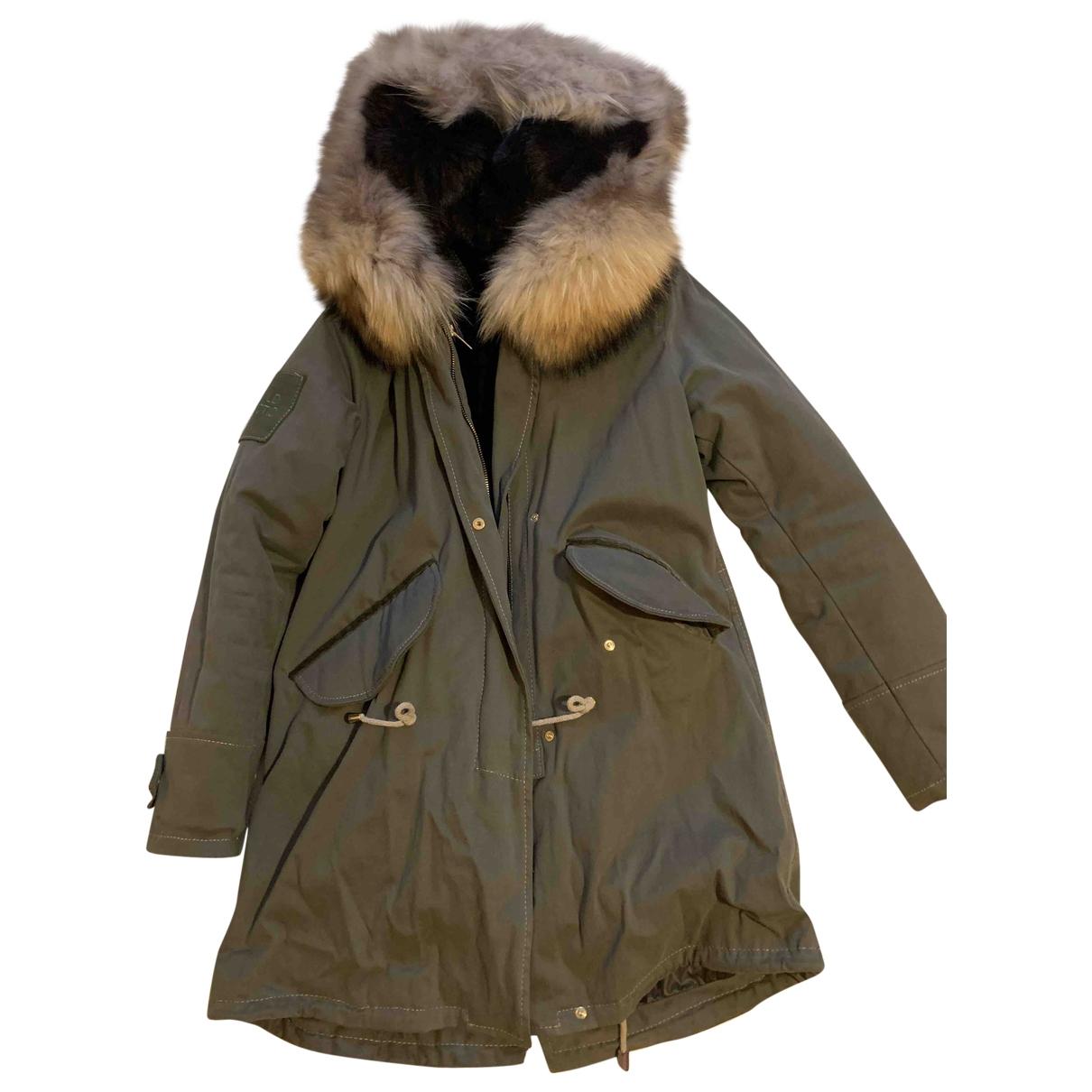 - Manteau   pour femme en coton - kaki