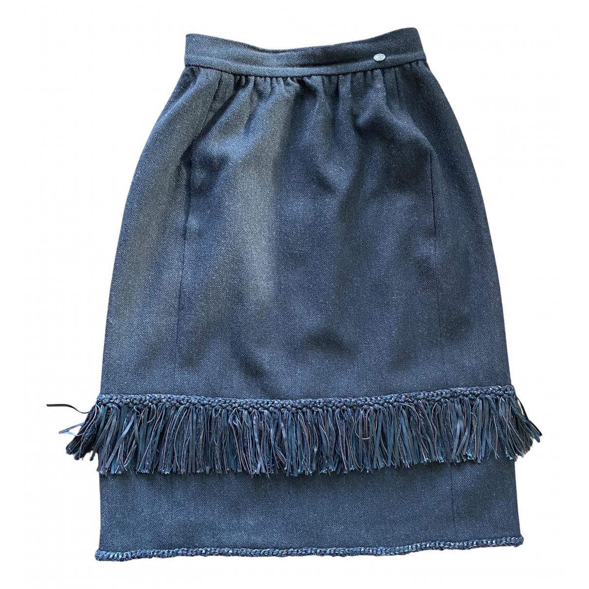 Chanel \N Rocke in  Schwarz Wolle