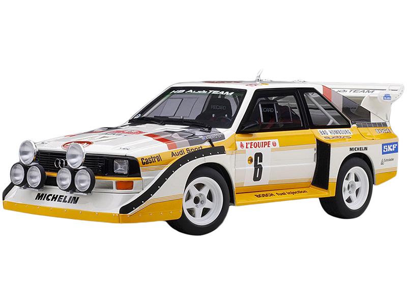Audi Sport Quattro S1 6 H. Mikkola - A. Hertz Rally Monte Carlo (1986) 1/18 Model Car by Autoart
