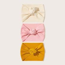 3pcs Baby Wide Knot Headbands