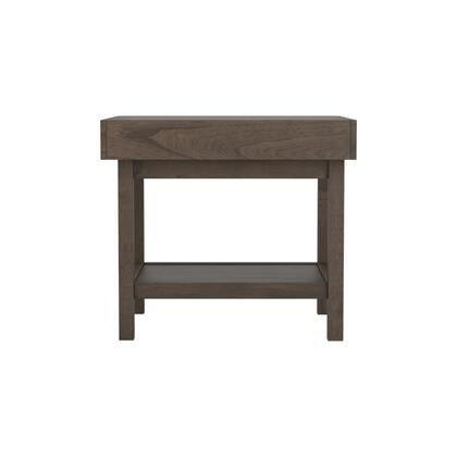 723117 24 End Table with One Storage Drawers  Open Bottom Shelf and Hidden Felt Lined Drawer in Brown
