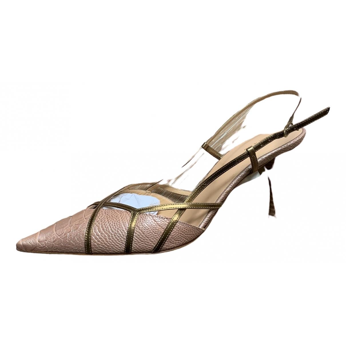 Sergio Rossi \N Metallic Exotic leathers Heels for Women 40 EU