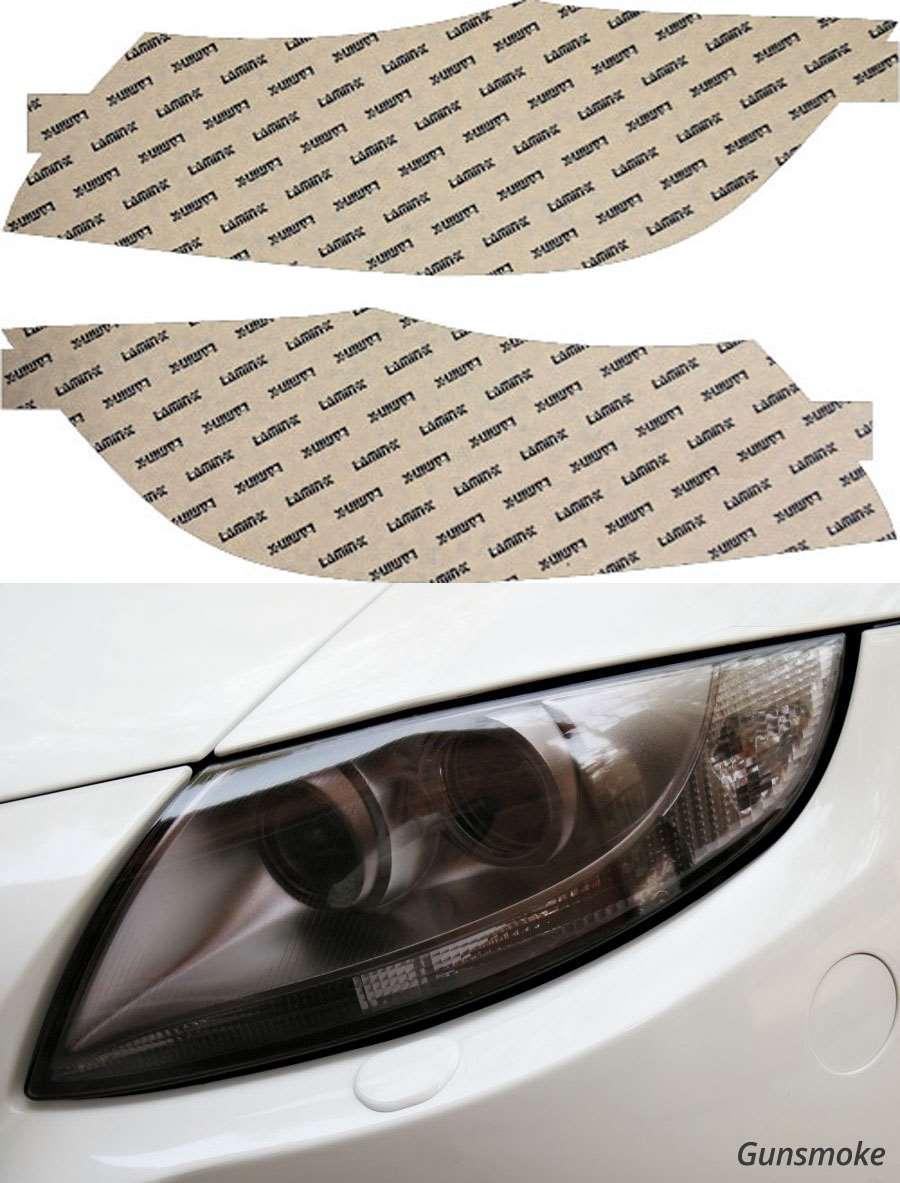 BMW 3-Series Sedan 09-11 Only Gunsmoke Headlight Covers Lamin-X B529G