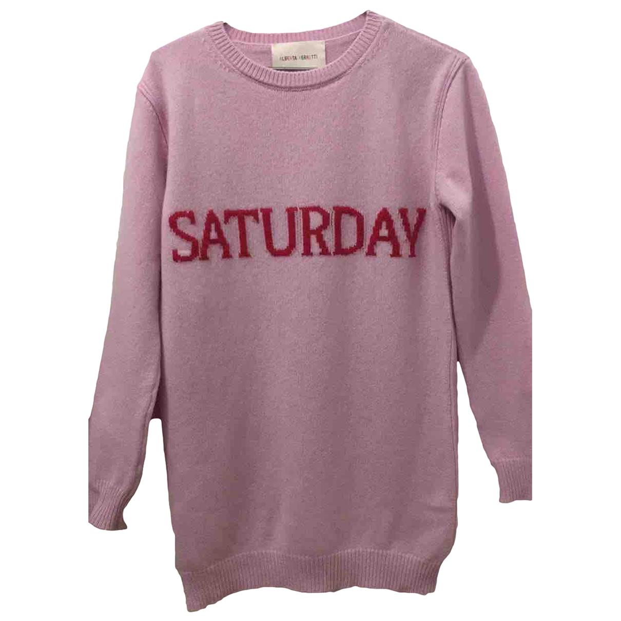 Alberta Ferretti - Robe   pour femme en cachemire - rose