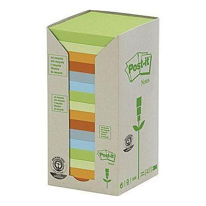 Post-it@ Recycled Assorted Pastel Towers, 3