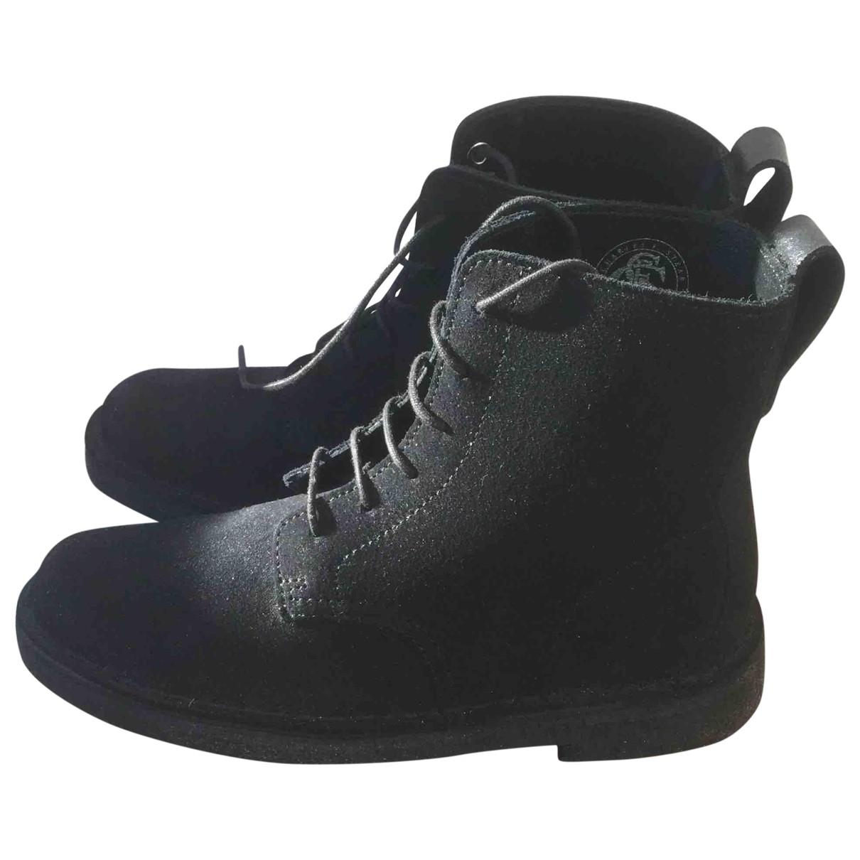 Clarks - Boots   pour femme en suede - noir