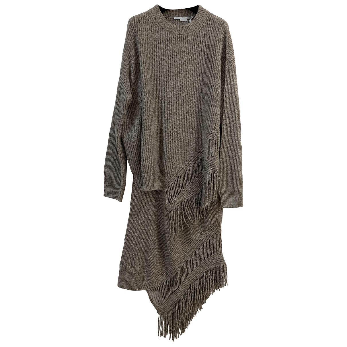 Stella Mccartney \N Kleid in  Braun Wolle