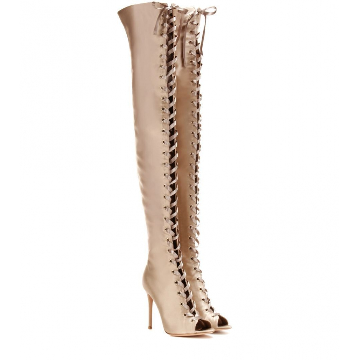 Gianvito Rossi \N Gold Cloth Boots for Women 37.5 EU