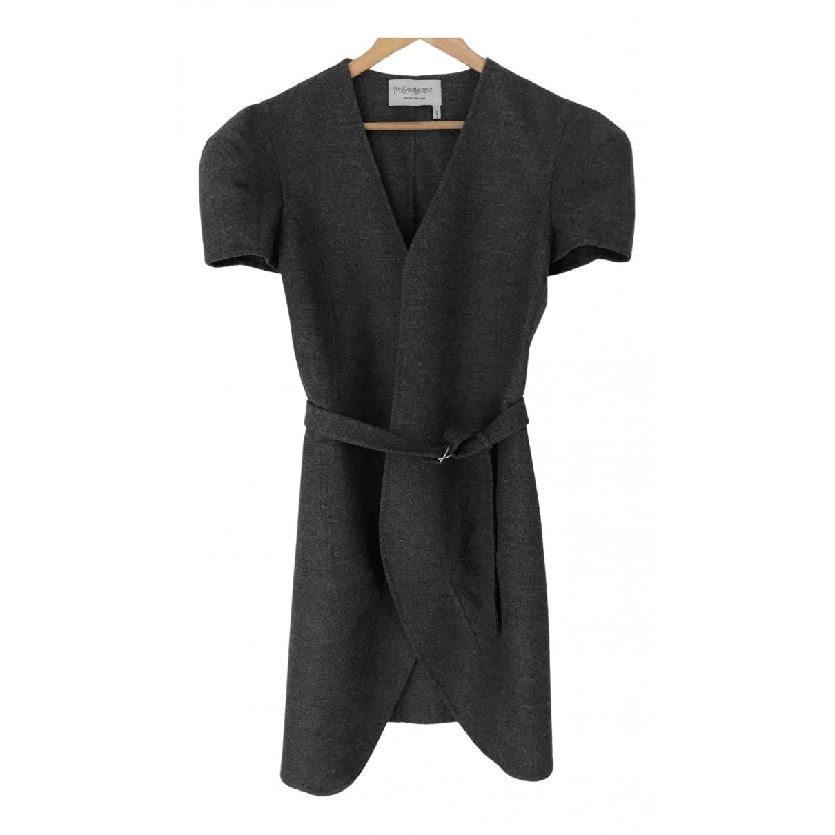 Yves Saint Laurent \N Grey Wool dress for Women 38 FR