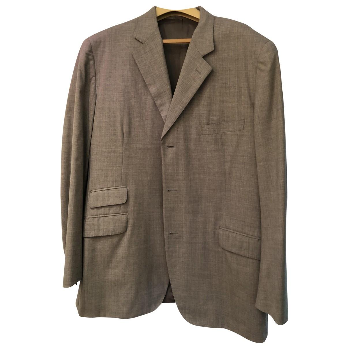 Hermes - Costumes   pour homme en laine - gris