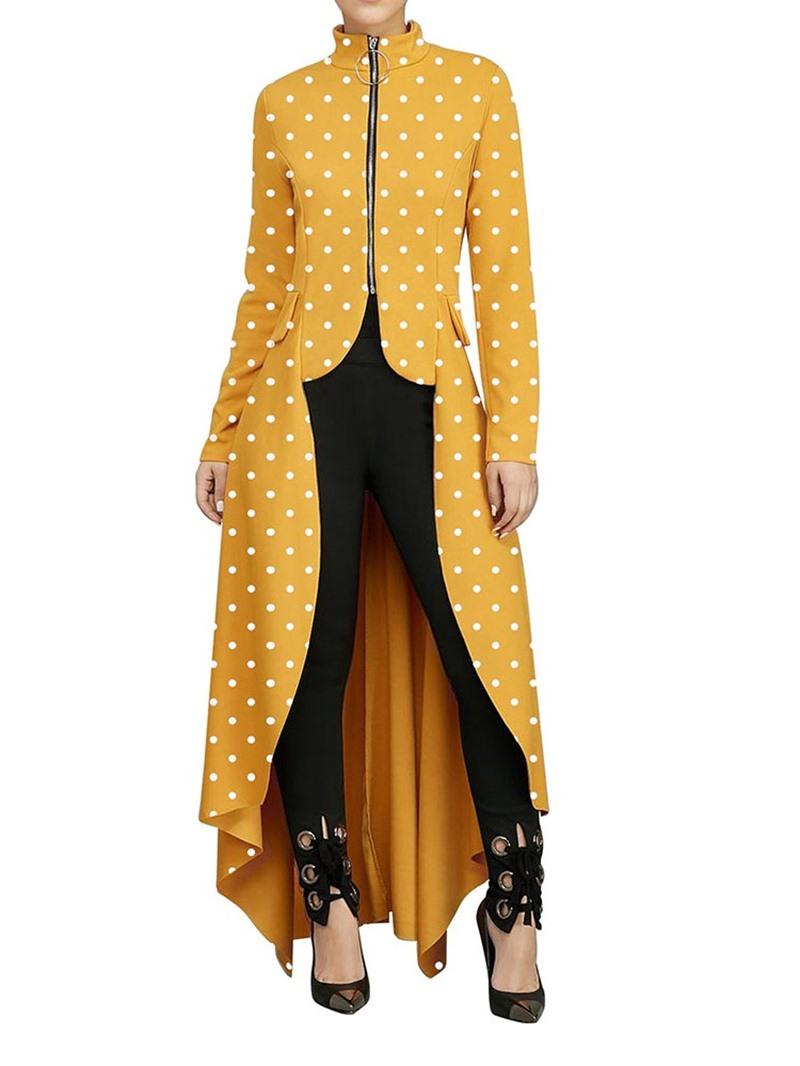 Ericdress Asymmetric Zipper Long Sleeve Spring Blouse