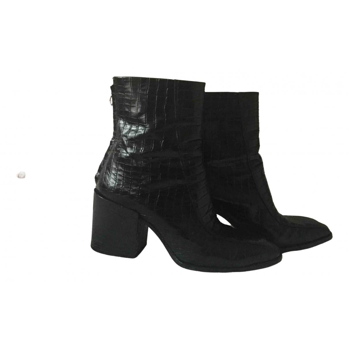 Aeyde - Boots   pour femme en cuir - noir