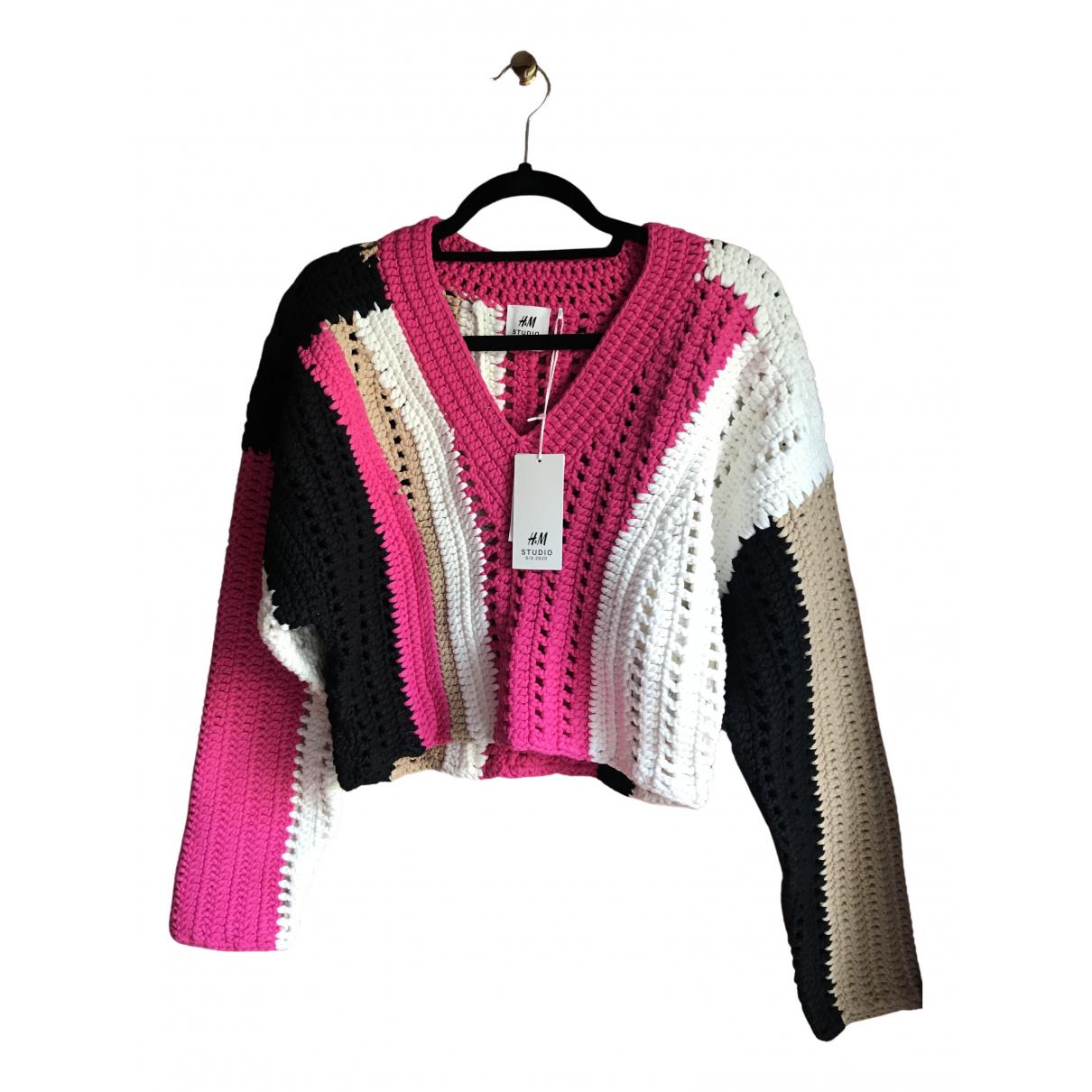 H&m Studio - Pull   pour femme en coton - multicolore