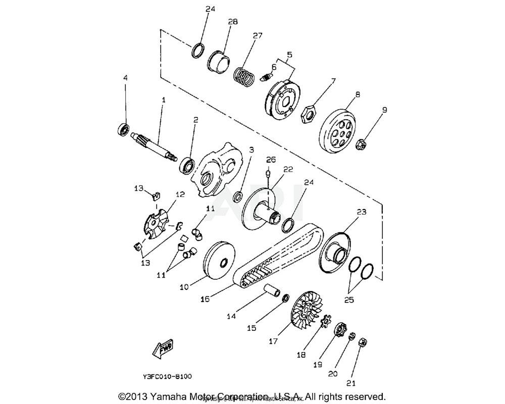 Yamaha OEM 30A-17632-00-00 PRIMARY SHEAVE WEIGHT (HA)