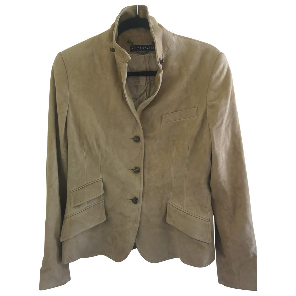 Ralph Lauren \N Camel Suede jacket for Women 12 UK