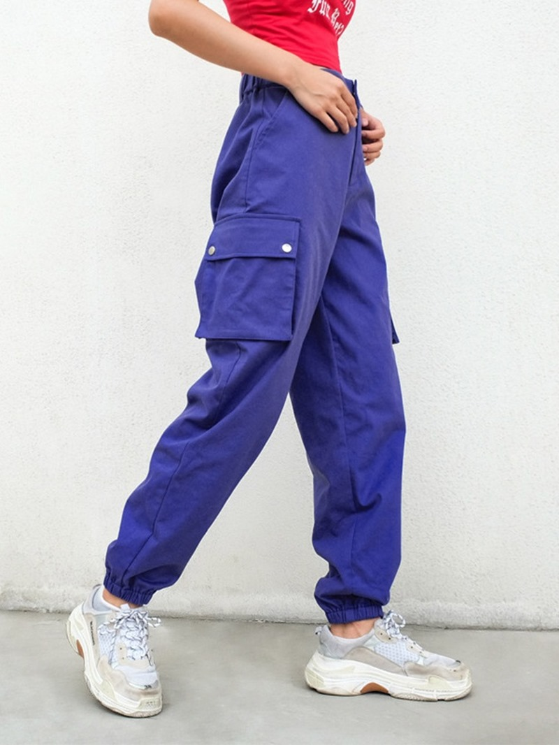 Ericdress Polyester Solid Pockets Running Female Pants