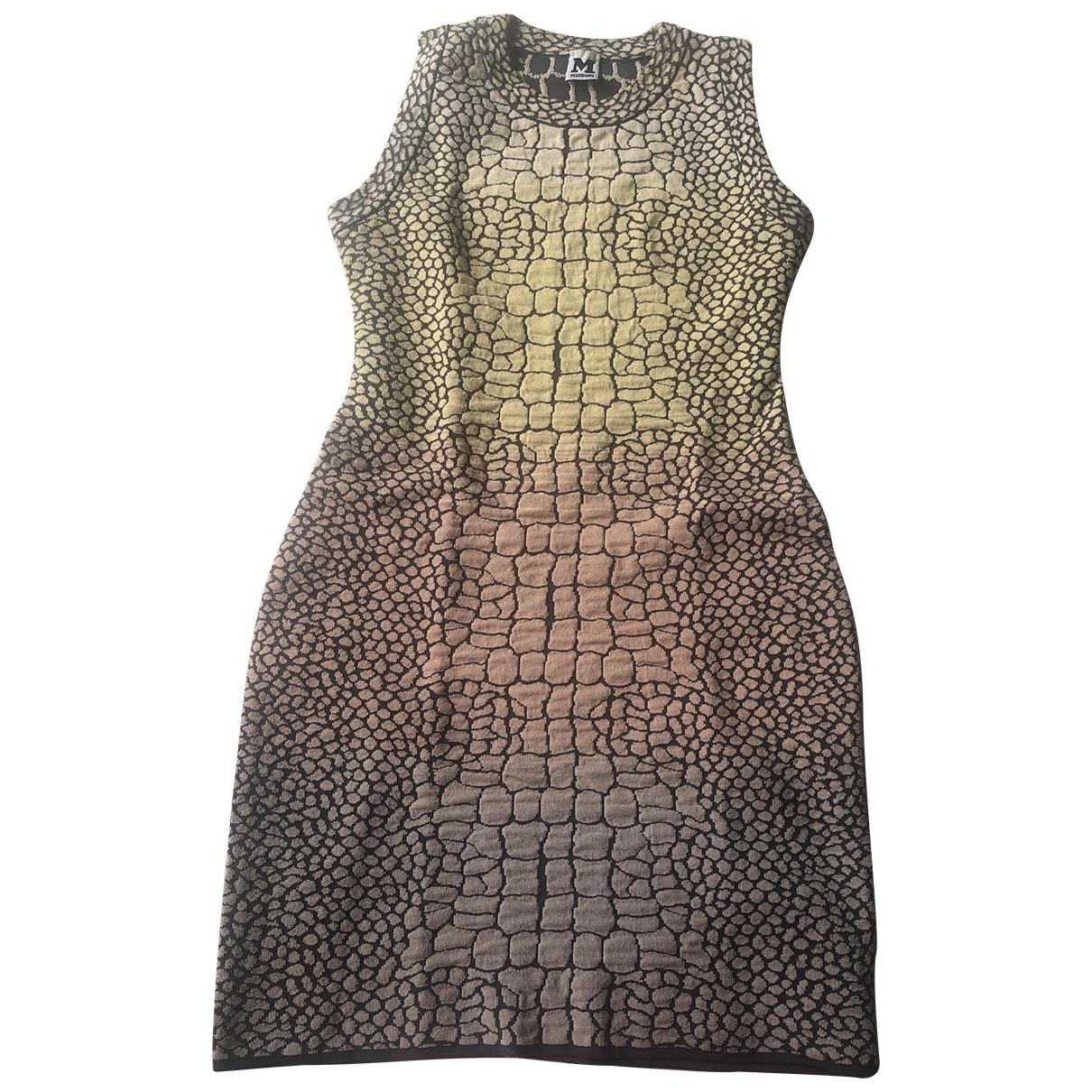 M Missoni \N Kleid in  Gelb Baumwolle - Elasthan