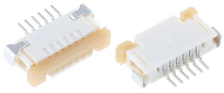 Molex Easy-On 52207 Series 1mm Pitch 6 Way Right Angle Female FPC Connector, ZIF Top Contact (10)