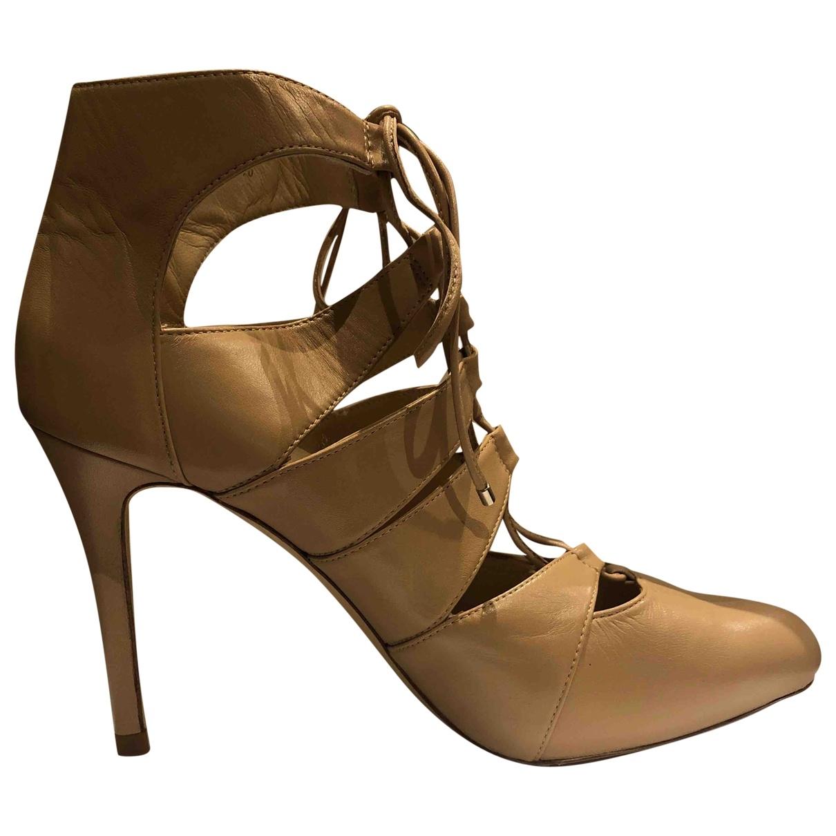 Lk Bennett \N Beige Leather Heels for Women 40 EU