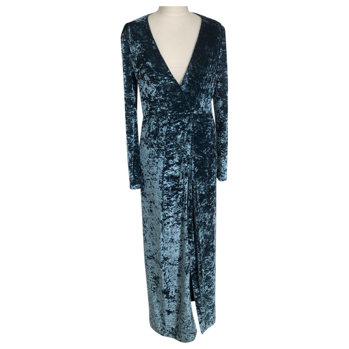 Galvan London \N Kleid in  Tuerkis Samt