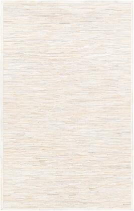 Zander ZND-1006 8' x 10' Rectangle Modern Rugs in White  Cream  Beige