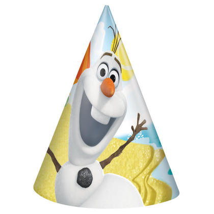 Frozen 8 Olaf Party Hats For Birthday Party