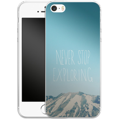 Apple iPhone SE Silikon Handyhuelle - Never Stop Exploring von Leah Flores