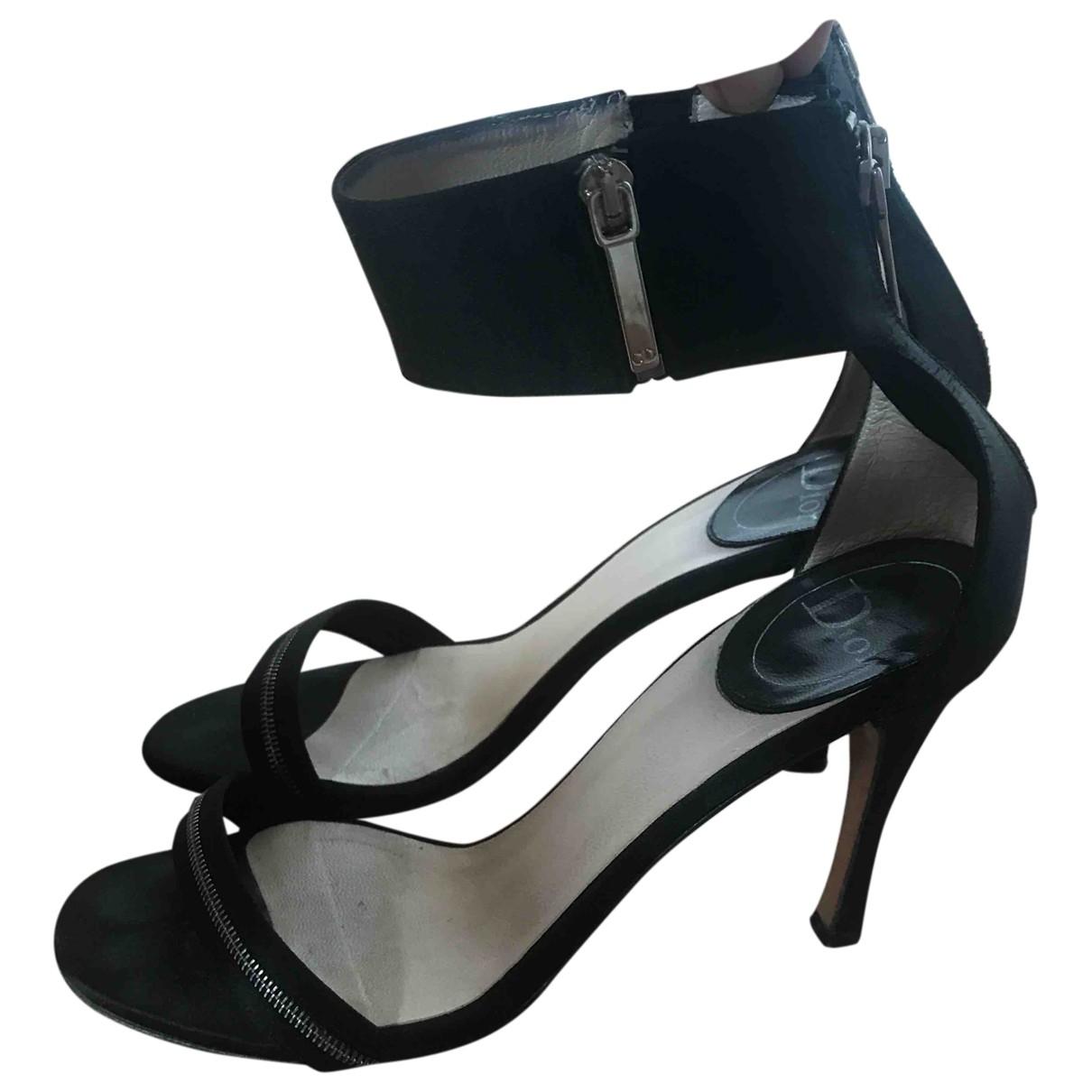 Dior \N Black Cloth Sandals for Women 36.5 IT