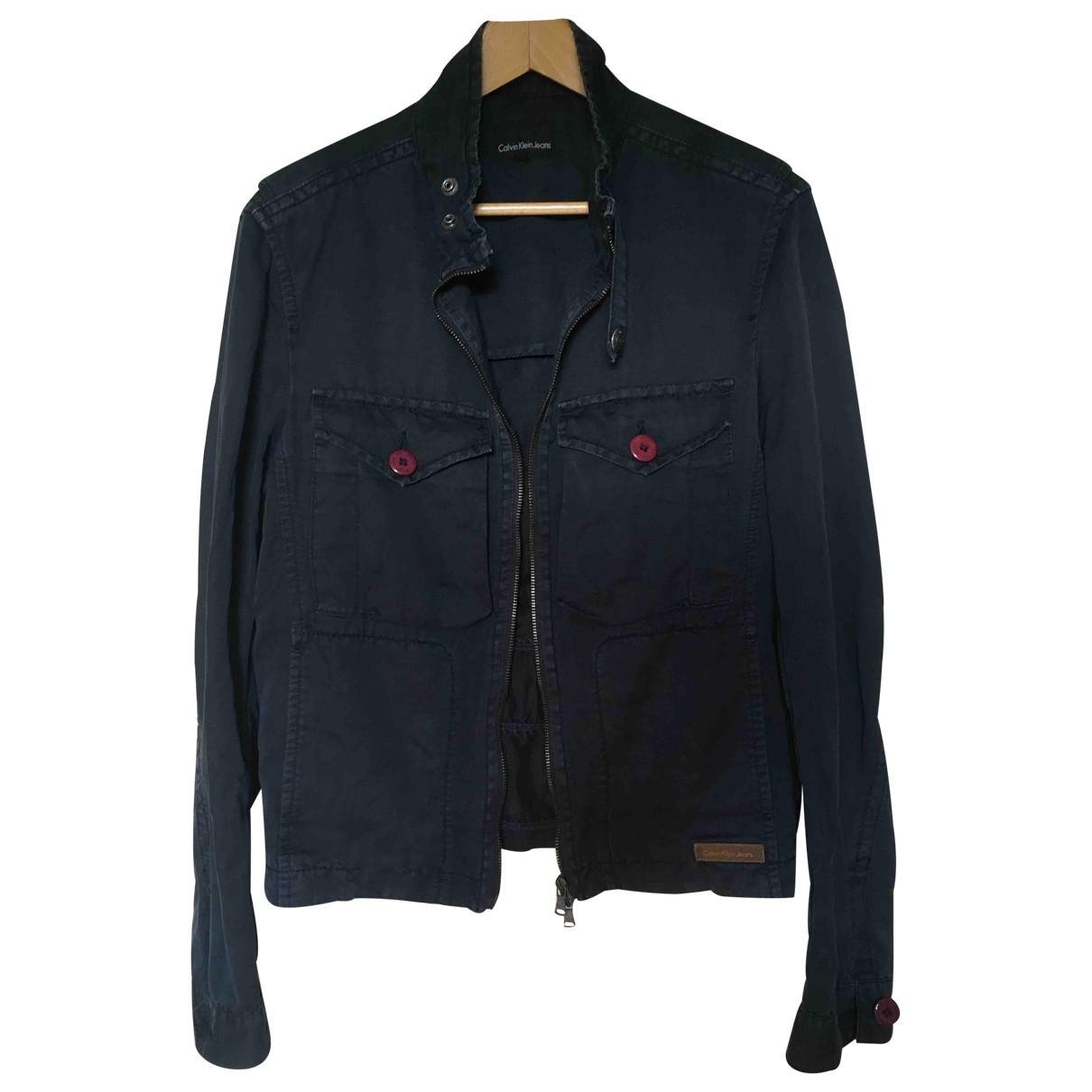 Calvin Klein \N Jacke in  Blau Baumwolle