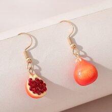 Fruit Charm Drop Earrings