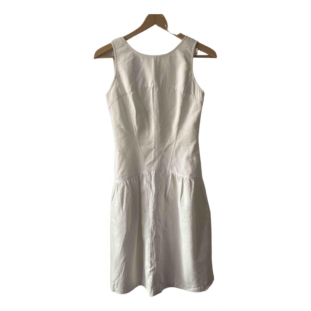 Chanel \N Kleid in  Weiss Baumwolle - Elasthan