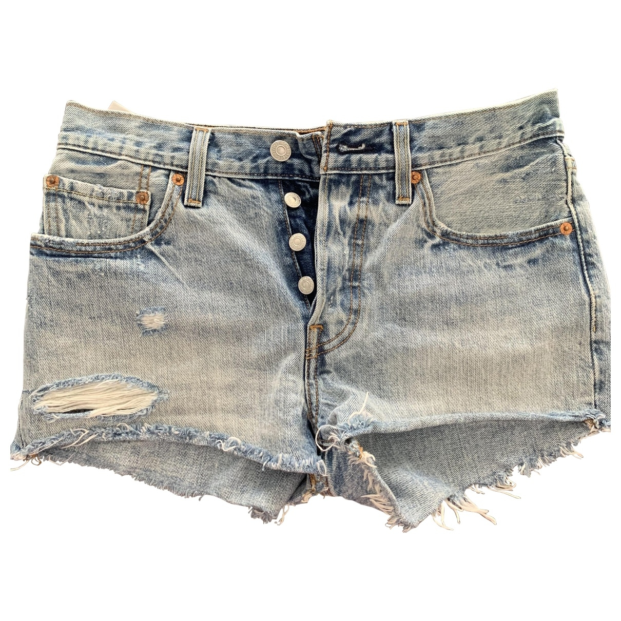 Levis \N Shorts in  Blau Denim - Jeans