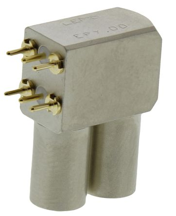 Lemo , 00 S Right Angle PCB Socket, Through Hole, Solder Termination
