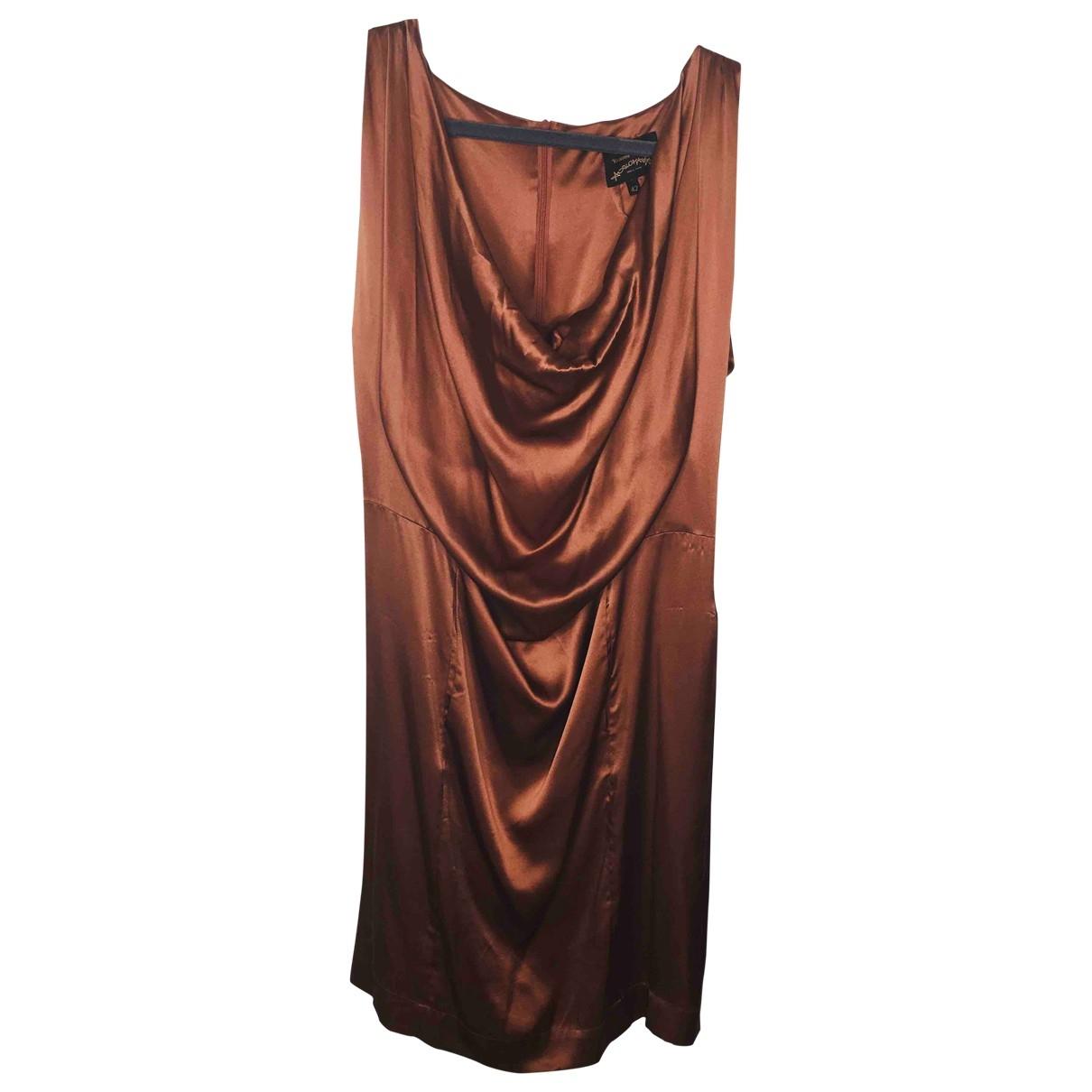 Vivienne Westwood Anglomania - Robe   pour femme en soie - marron
