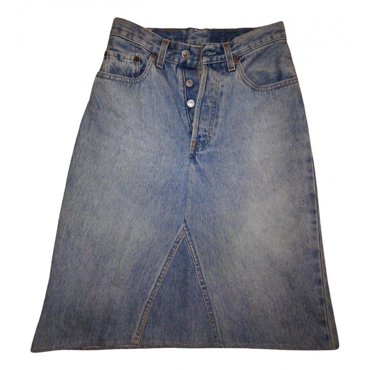 Levi's \N Blue Denim - Jeans skirt for Women S International