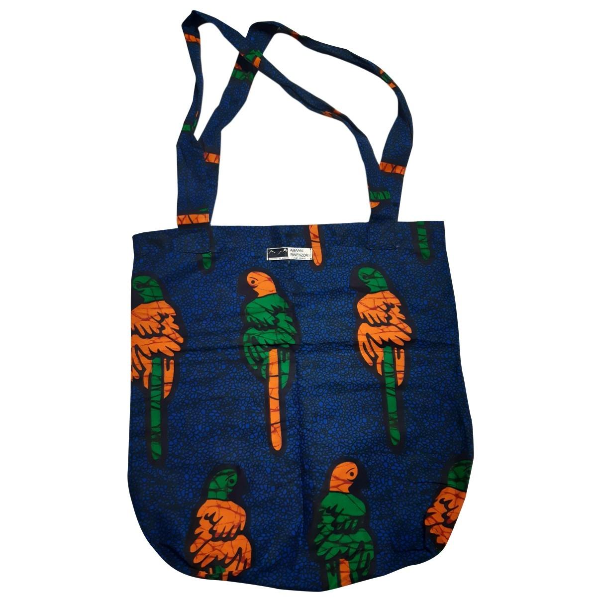 Non Signe / Unsigned \N Handtasche in  Blau Baumwolle