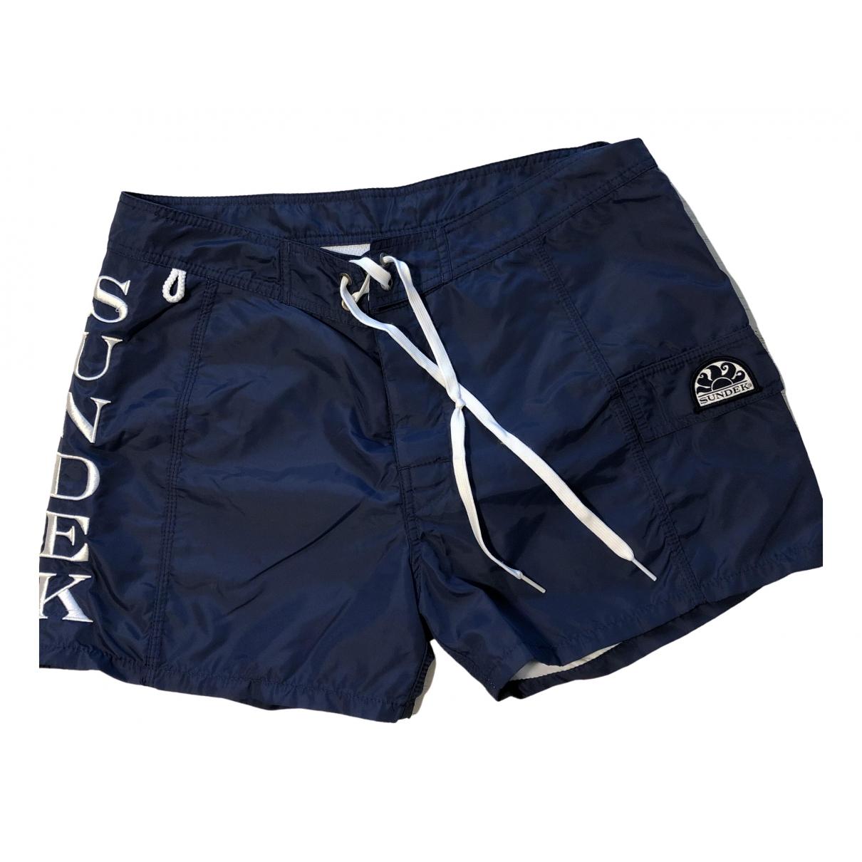 Sundek \N Shorts in  Blau Synthetik