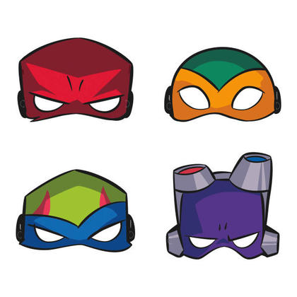 Ninja Turtles 8 Party Masks Pour la fête d'anniversaire