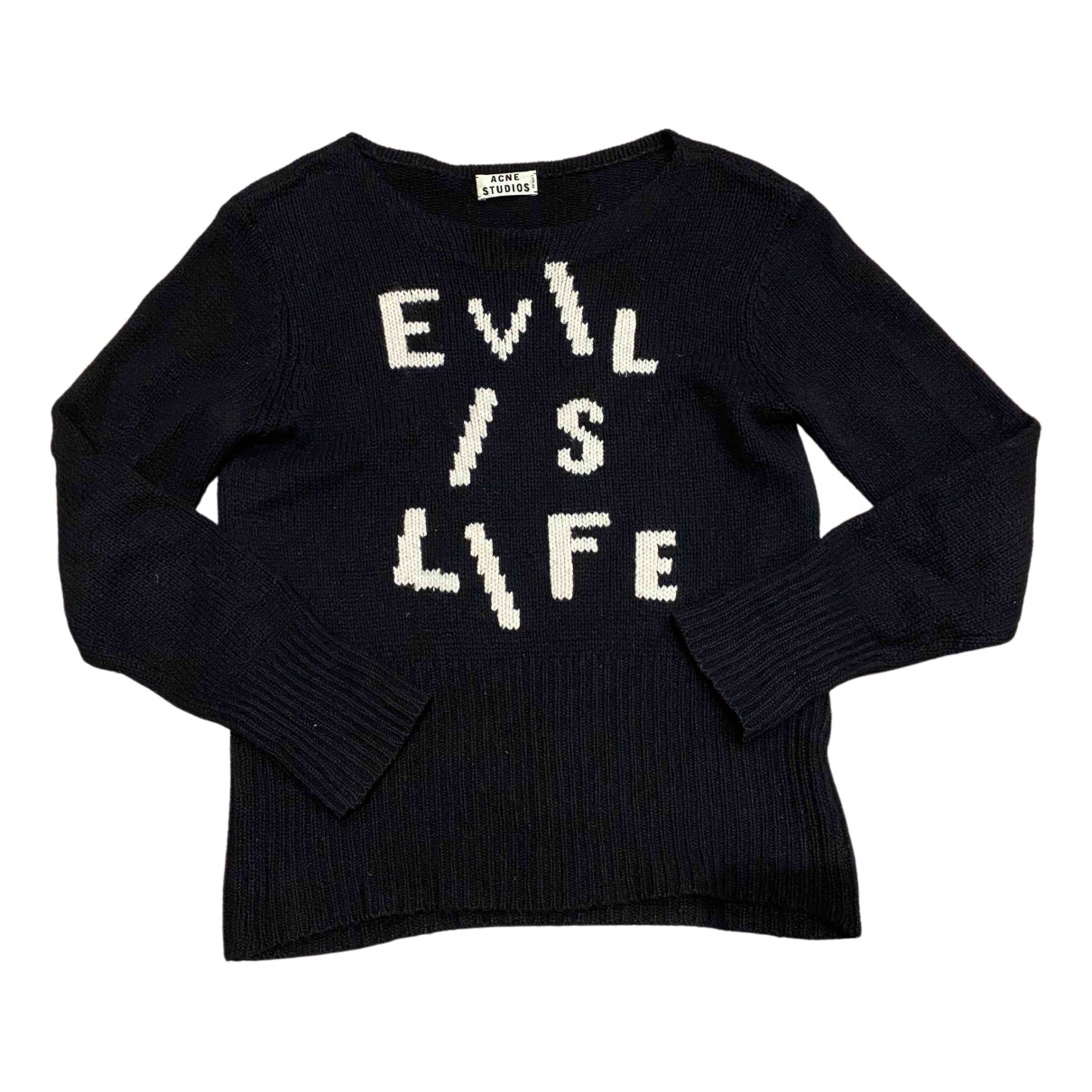 Acne Studios - Pull   pour femme en laine - noir
