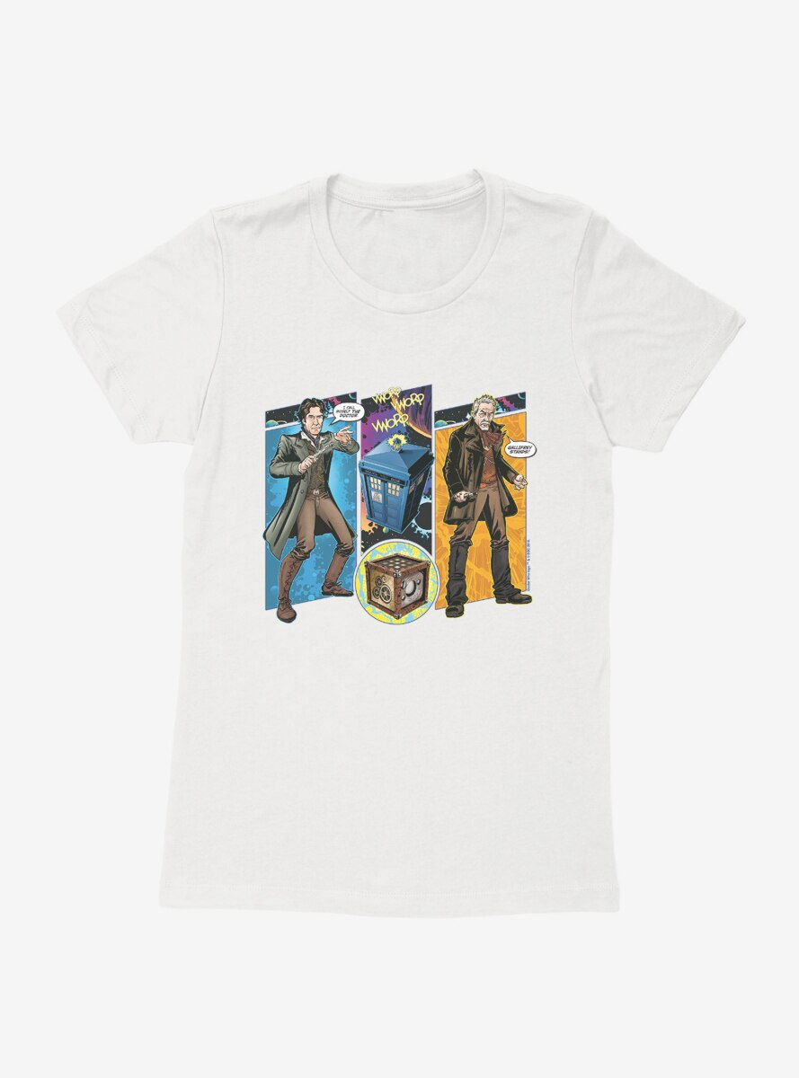 Doctor Who The Eighth Doctor Comic Scene Womens T-Shirt