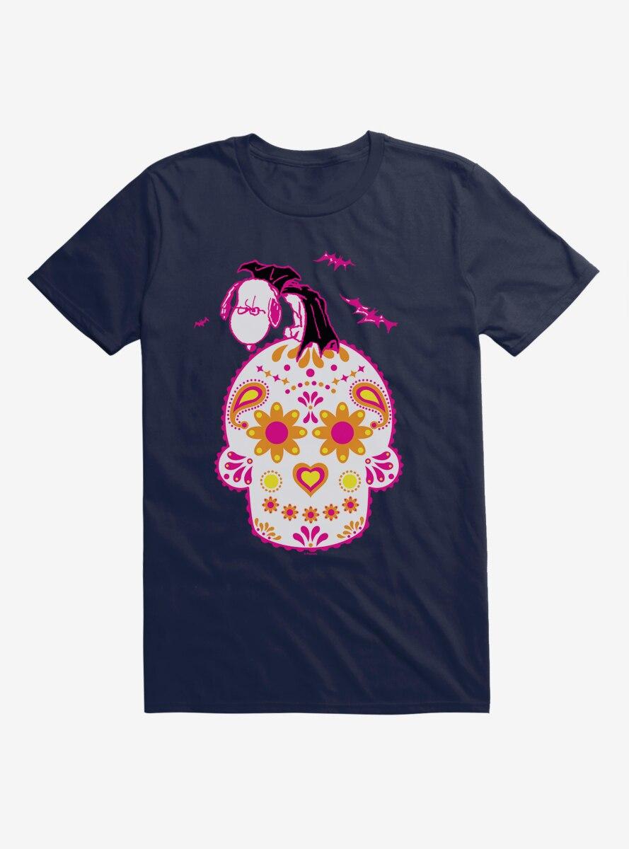 Peanuts Day Of The Dead Vampire Sugar Skull Snoopy T-Shirt