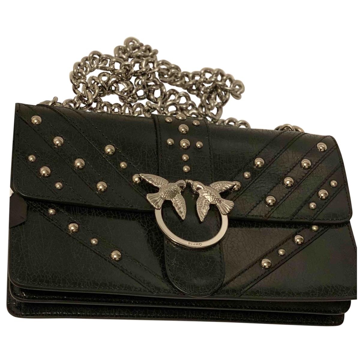 Pinko - Sac a main Love Bag pour femme en cuir - noir