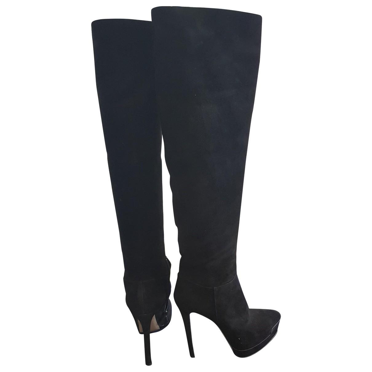 Le Silla - Escarpins   pour femme en suede - noir