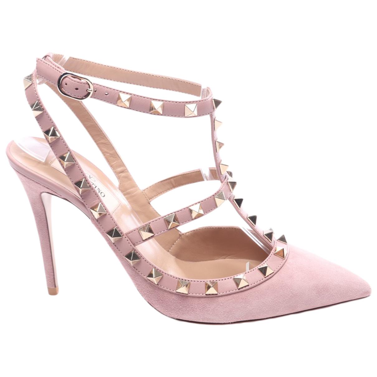 Valentino Garavani - Escarpins   pour femme en cuir - rose
