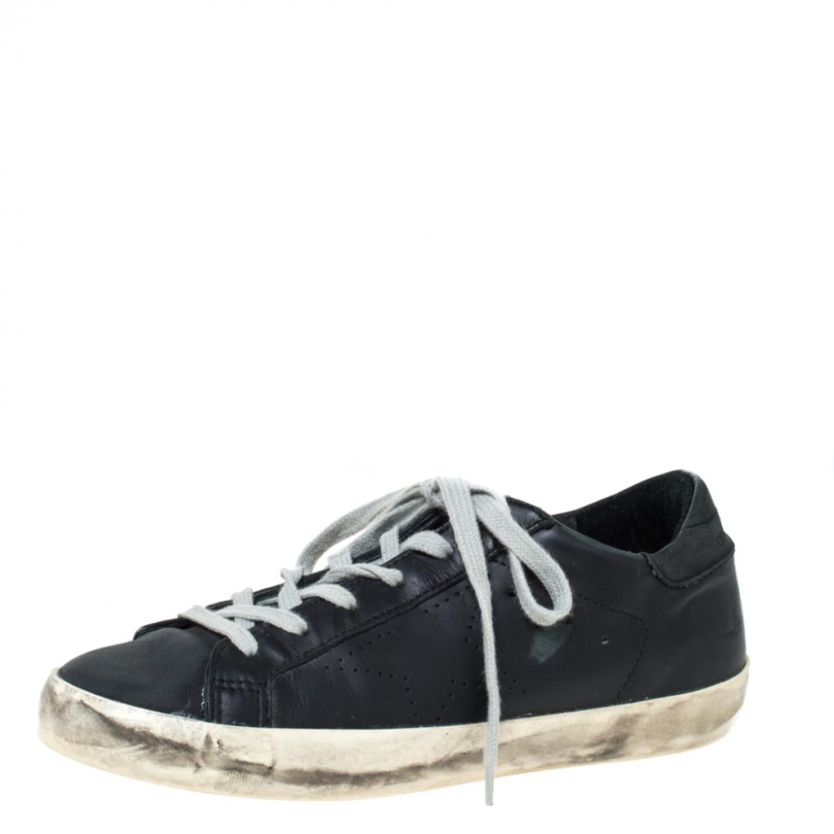 Golden Goose \N Sneakers in  Schwarz Leder